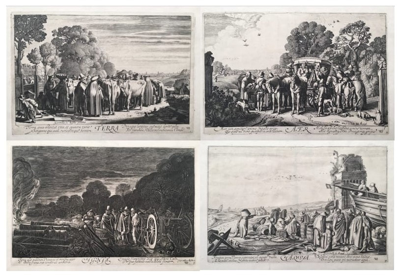 picture of four prints of the four seasons