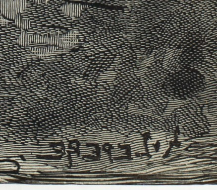 picture of artist's signature backward
