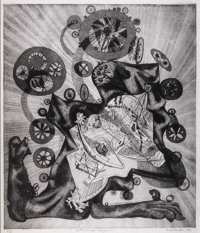 Picture of Fred Becker print Kaleidoscopic Organism