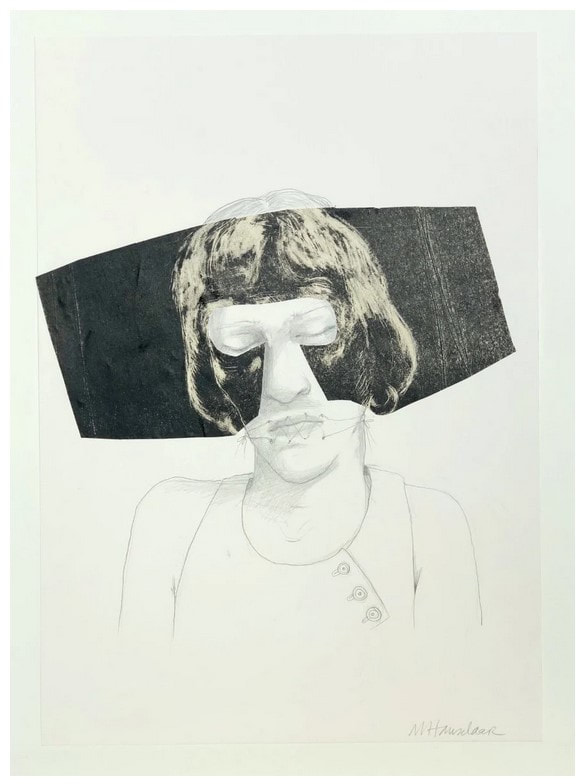 picture of a woman with partial mask