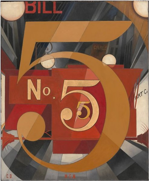 Picture of Charles Demuth's I Saw the Figure 5 in Gold, a painting.
