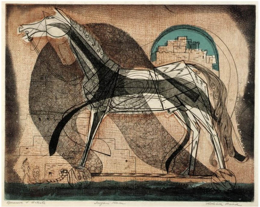 Picture of Roderick Mead's print, Trojan Horse