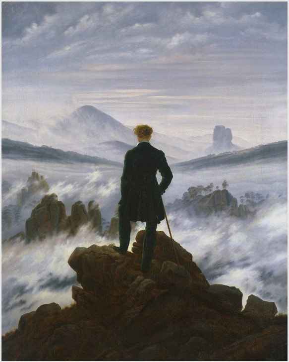 Picture of Caspar David Friedrich's painting Wanderer above the Sea of Fog