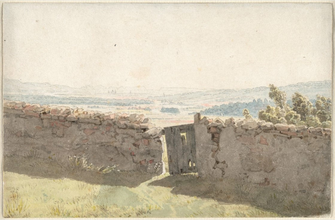 Picture of Caspar David Friedrich's drawing Gate in the Garden Wall