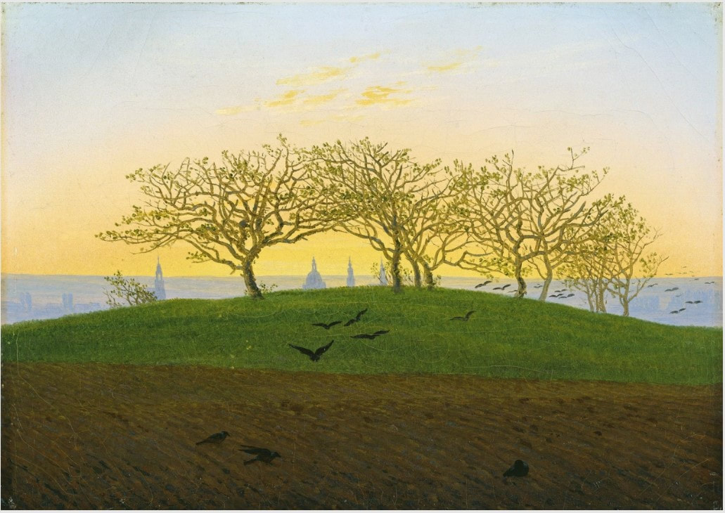Picture of Caspar David Friedrich's painting Hill at Bruchacker