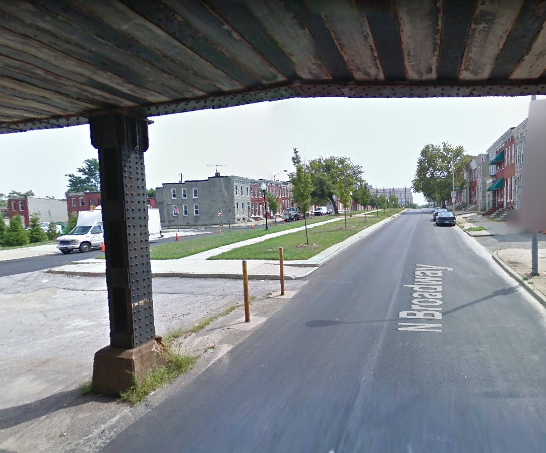 Picture of North Broadway, Baltimore Google Maps