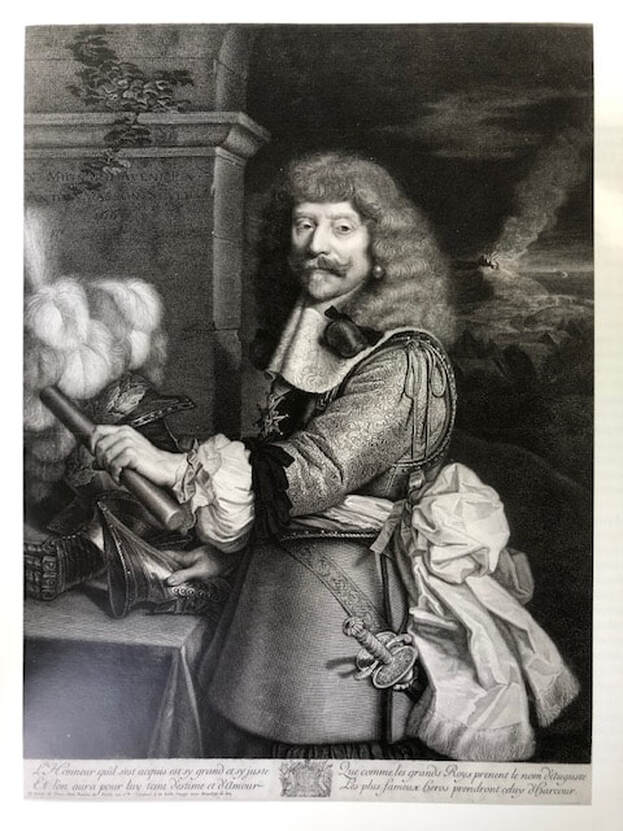 Picture of Nicolas Mignard's engraved portrait of the Count of Harcourt, 1667