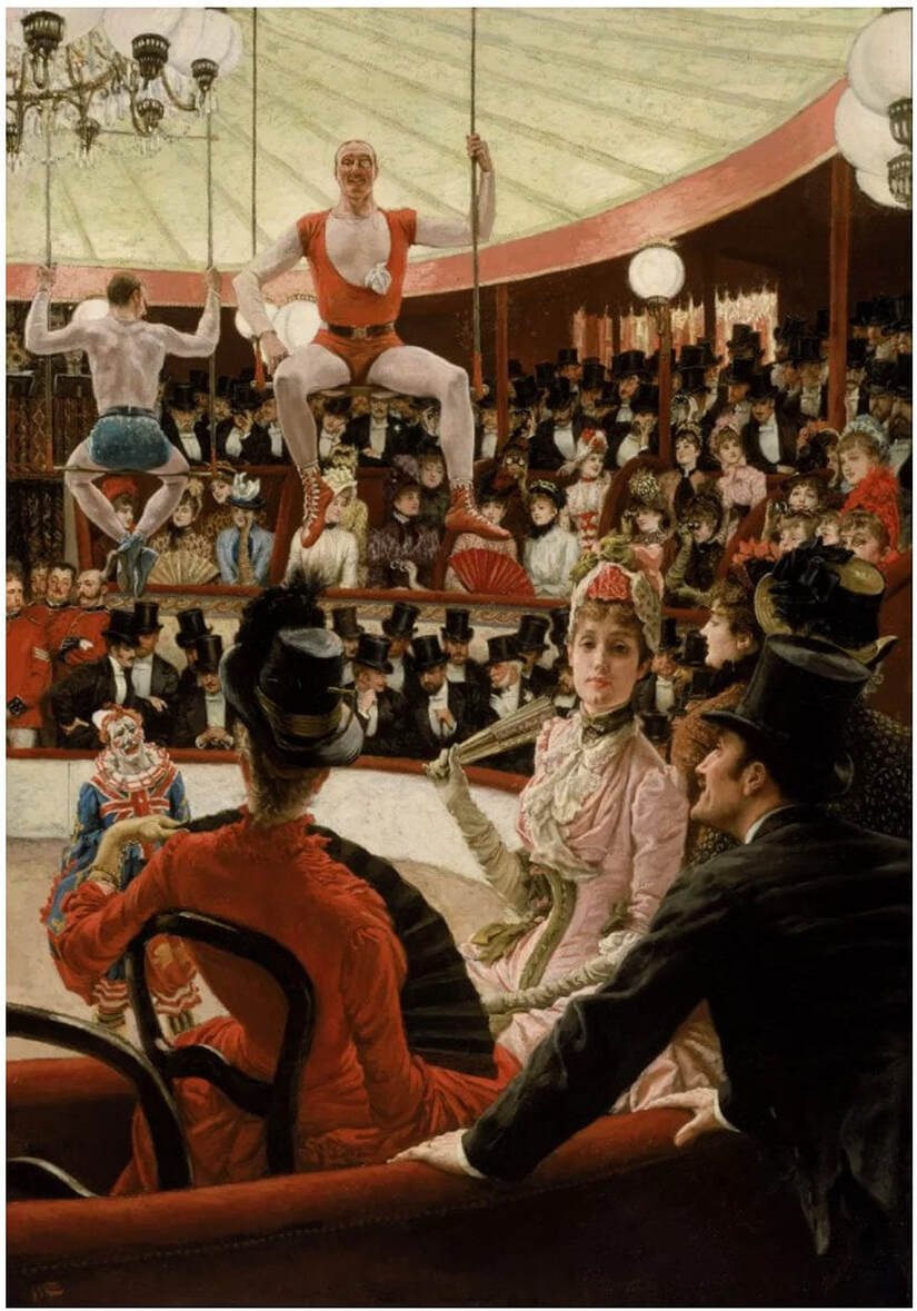 Picture of James Tissot painting Women of Paris: the Circus Lover, collection Museum of Fine Arts Boston
